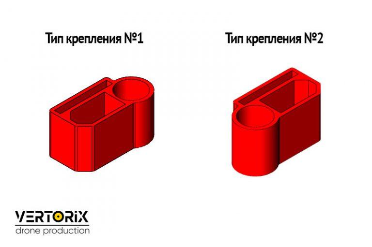 Тип крепления разъёма XT60 с конденсатором
