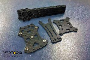 Детали из карбона для сборки гоночного коптера PDuke