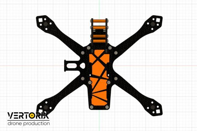 Рама для сборки съёмочного дрона Vertorix Mandarin
