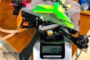 Вес фристайлового дрона Mandarin